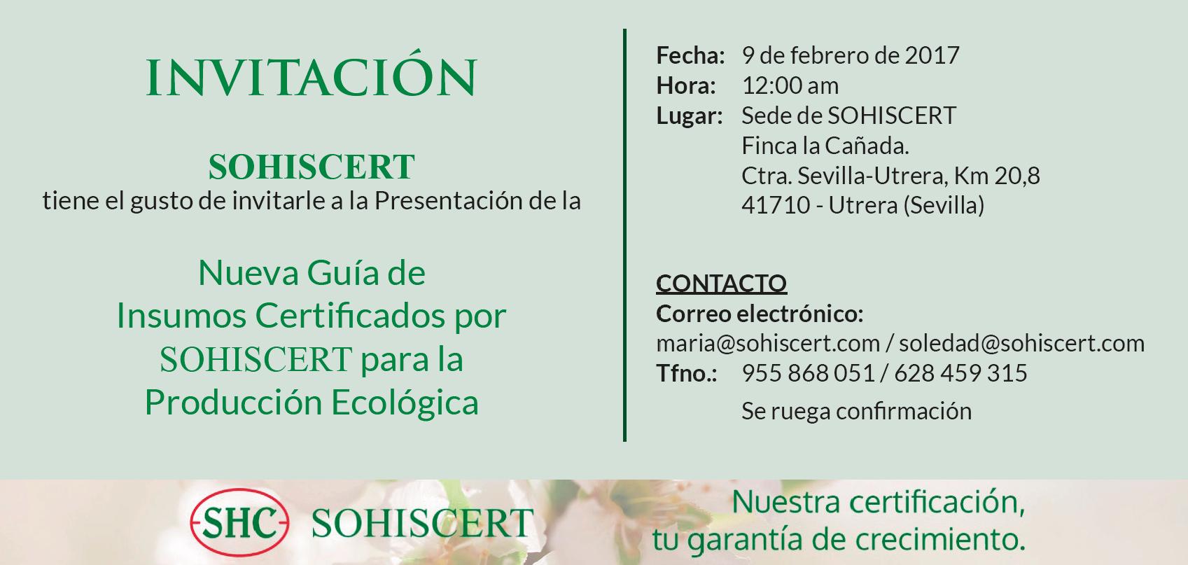 INVITACIÓN PRESENTACIÓN GUÍA DE INSUMOS
