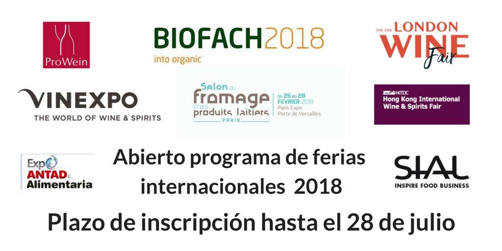 Programa de Ferias Internacionales. Agencia de Innovación, Financiación e Internacionalización Empresarial de Castilla Y León (ADE)