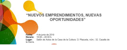 Jornada: Nuevos Emprendimientos, Nuevas Oportunidades