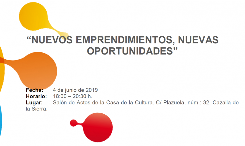 SOHISCERT colabora con el CADE de Cazalla de la Sierra en la Jornada sobre: ¨Nuevos Emprendimientos, Nuevas Oportunidades¨