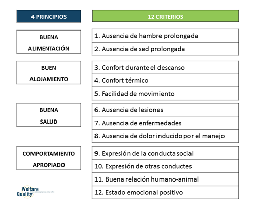 Principicos y Criterios Welfair Quality