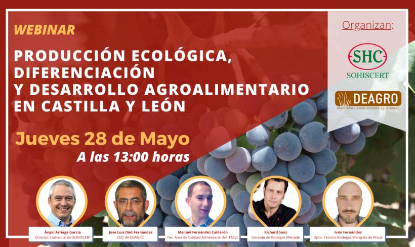 WEBINAR PRODUCCIÓN ECOLÓGICA, DIFERENCIACIÓN Y DESARROLLO AGROALIMENTARIO EN CASTILLA Y LEÓN