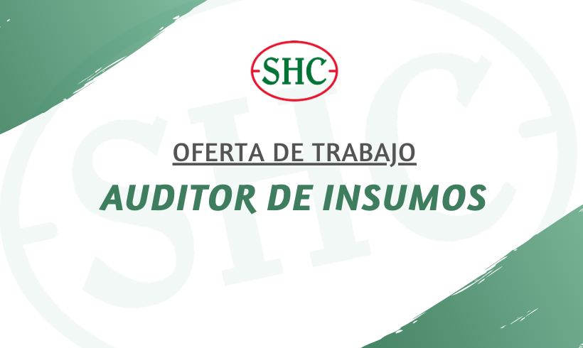 OFERTA EMPLEO: AUDITOR DE INSUMOS