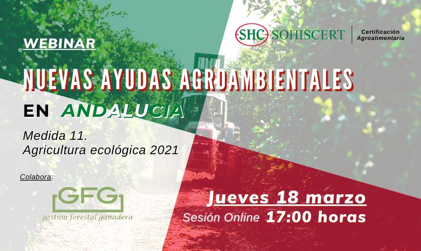 WEBINAR: Ayudas Agroambientales en Andalucía para seguir avanzando