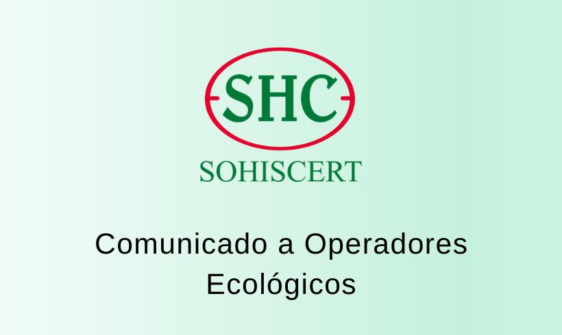 Comunicado a operadores ecológicos: Modificaciones del Reglamento CE nº 889/2008